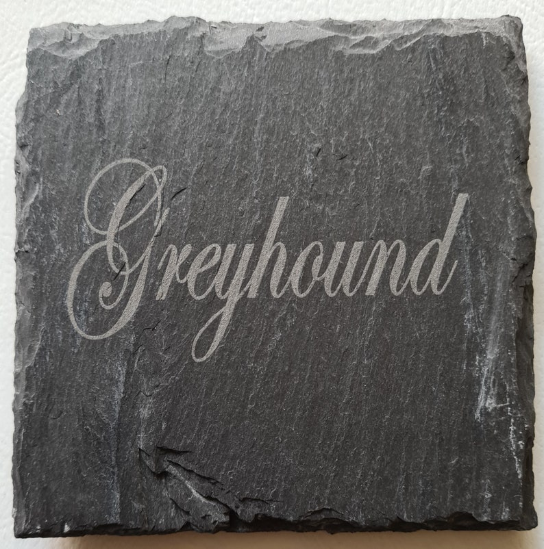 Dog Breed Square or Round Natural Slate Coasters