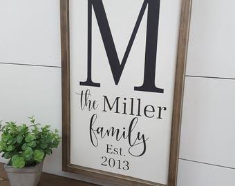 Last Name Established Sign, Last Name Sign Established, Last Name Sign, Family Established, Established Sign, Name Sign Wood, Wedding Sign