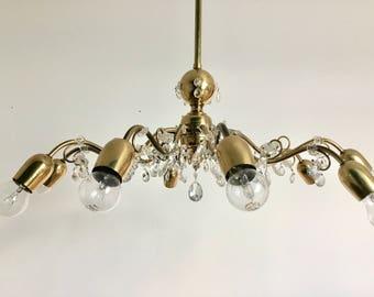 Lobmeyr chandelier etsy lobmeyr 10 arm sputnik chandelier brass crystal mid century midern 1950s aloadofball Image collections