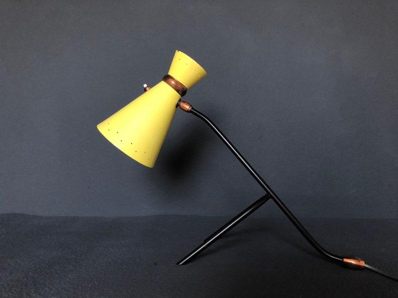 Zeldzame half eeuw moderne stilnovo lamp etsy