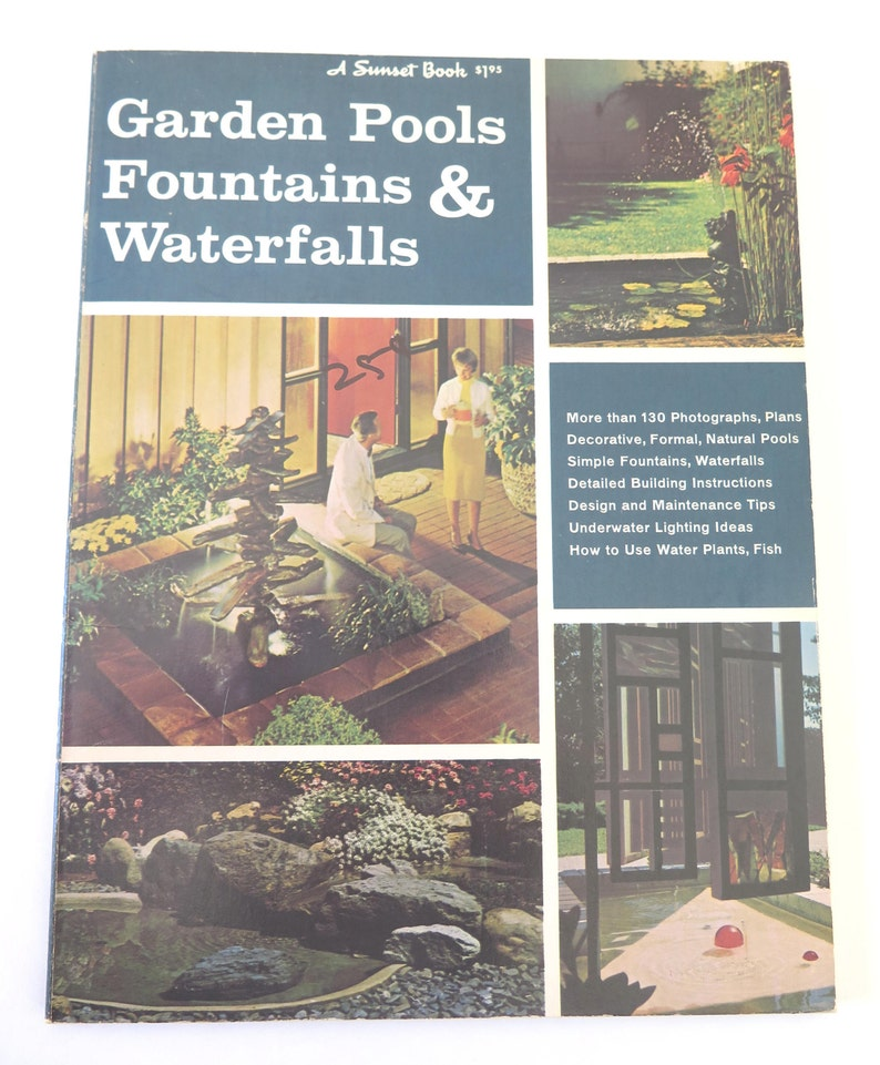 Attrayant Garden Pools, Fountains U0026 Waterfalls, Lane Book Company, 1968, Seventh  Printing, Vintage Sunset Book, Outdoor Decorating Ideas