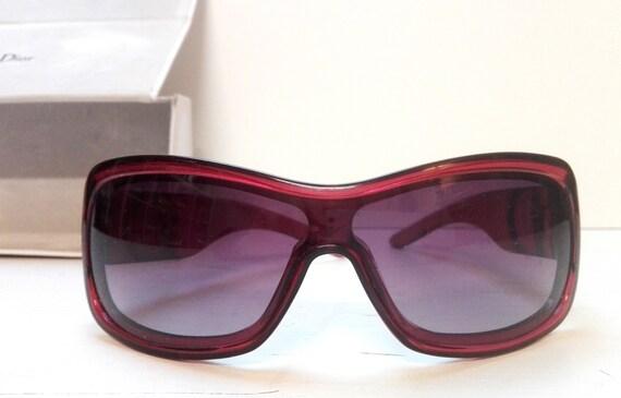 Vintage bordeaux sunglasses Dior with original bo… - image 2