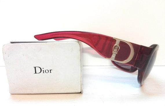 Vintage bordeaux sunglasses Dior with original bo… - image 3