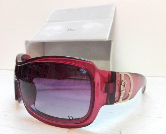 Vintage bordeaux sunglasses Dior with original bo… - image 1