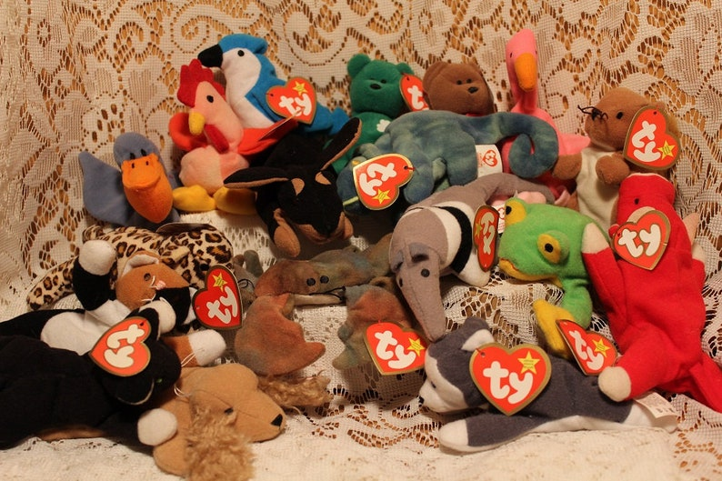 11803358cd5 1993 Teenie Beanie Babies Bundle Original Ty Inc Oakbrook IL