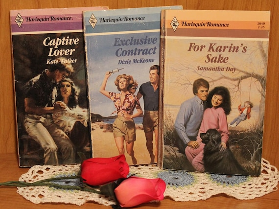 Harlequin Romance Novels ~ Softcover Editions ~Captive Lover ~ Exclusive  Contract ~ For Karin's Sake ~ Vintage Collectible from the 1980's