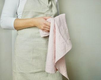 Linen tea towel, plain tea towel, kitchen tea towel, handmade tea towels