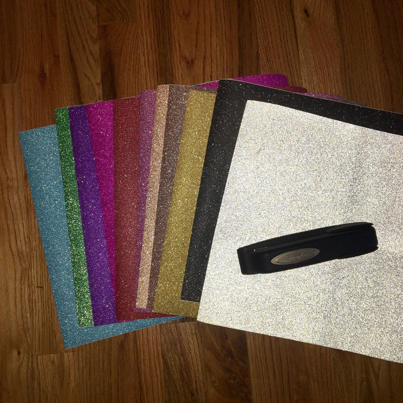 12 X 12 Sheets Of Adhesive Cricut Glitter Vinyl Etsy