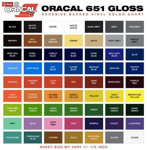 Oracle 651 Glossy Permanent Vinyl Rolls 12 X 10 Ft R Orange Permanent Adhesive