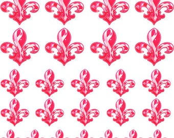 Nail Decals - Pink Fleur De Lis - Pink Nail Art//Fleur De Lis Nail Transfers//Nail Decoration - Free Decals with EVERY order !