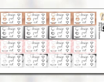 Shop Owner Checklist Planner Stickers DI095