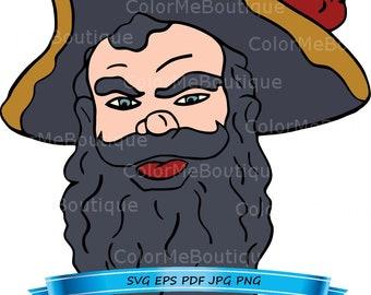 Pirate Profile (Style 3) Clipart