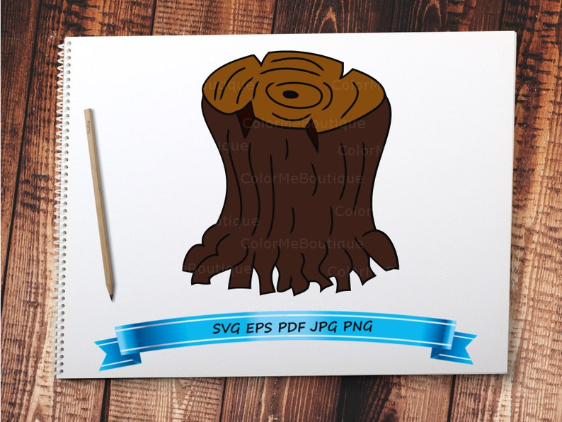 Tree Stump Clipart Etsy