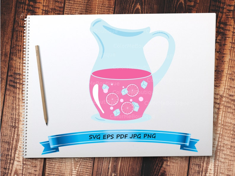 Pink Lemonade Jug Clipart