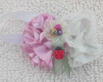 Pink and White Baby Headband | Little Girls Hair Bands | Girls Hair Accessory  | Newborn Headband | Headbands for Infants