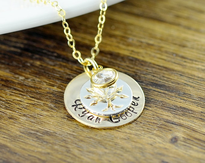Family Tree Necklace, Mother Of Twins, Personalized Mommy Necklace, Gift For Mom Of Twins, Gift For Twin Mom, Mother's Necklace
