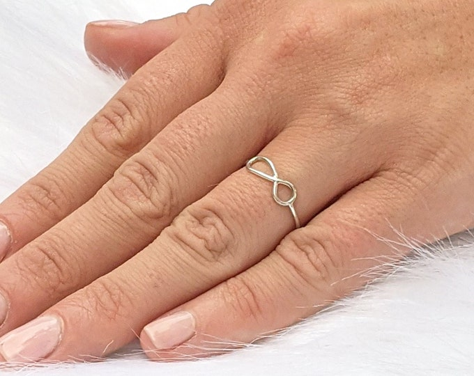 Infinity ring, infinity jewelry, silver rings for women, stacking rings, statement rings, gift for her, valentines day, romantic jewelry