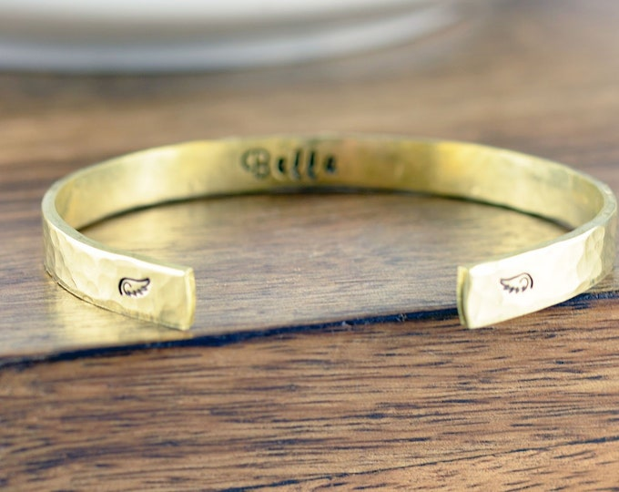 Gold Cuff Bracelet, Memorial Bracelet, Remembrance Gifts, Baby Loss Gift, Dog Loss Gift, Sympathy Gift, Memorial Gift, Pet memorial bracelet