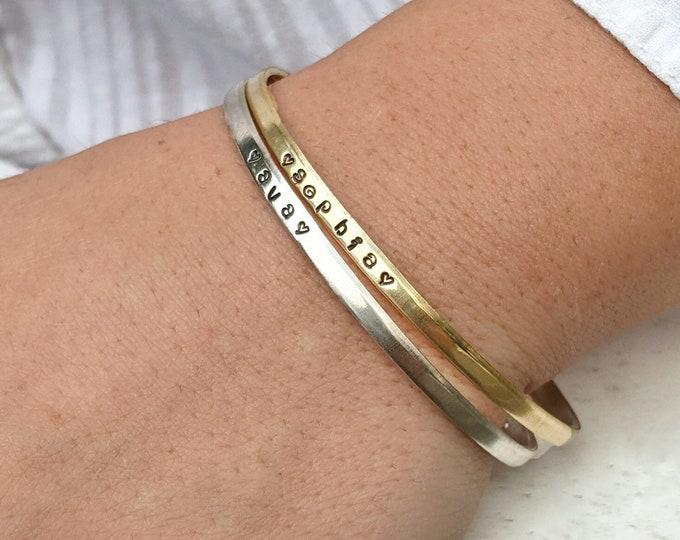 Mom Cuff Bracelet Kids Name Bracelet Mothers Day Gift Cuff Bracelet For Grandma Custom Name Bracelet