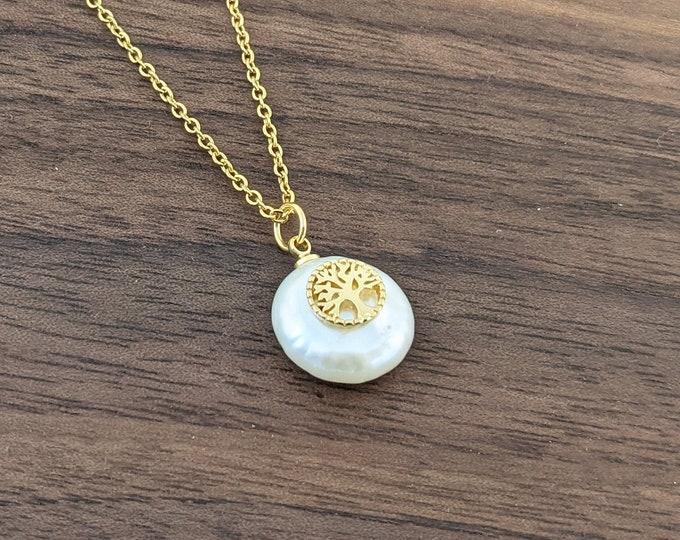 Family Tree Charm Pendant, Cubic Zirconia, Family Tree Necklace, Family Tree Jewelry