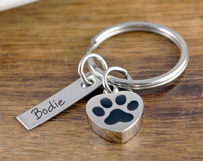 Dog Memorial KeyChain, Cremation Urn, Cremation Jewelry, Loss of Pet, Ash Jewelry, Cremation Keepsake, Dog Gift for Owners,Dog Memorial Gift
