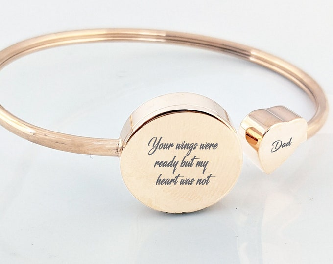 Your wings were ready but my heart was not, Cremation Jewelry, Memorial Bracelet, Sympathy Gift, Cremation Bracelet