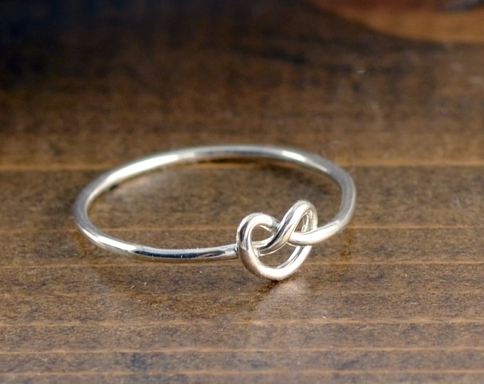 Sterling Silver Knot Ring, Tie the Knot Ring, Stacking Ring, Statement Rings, Silver Knot Ring for Women, Gift for women, Gift for Wife