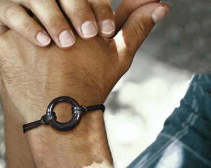 Cremation Urn Bracelet for Ashes, Memorial Bracelets, Circle of Life Eternity, Jewelry for Men Women Adjustable Bracelet