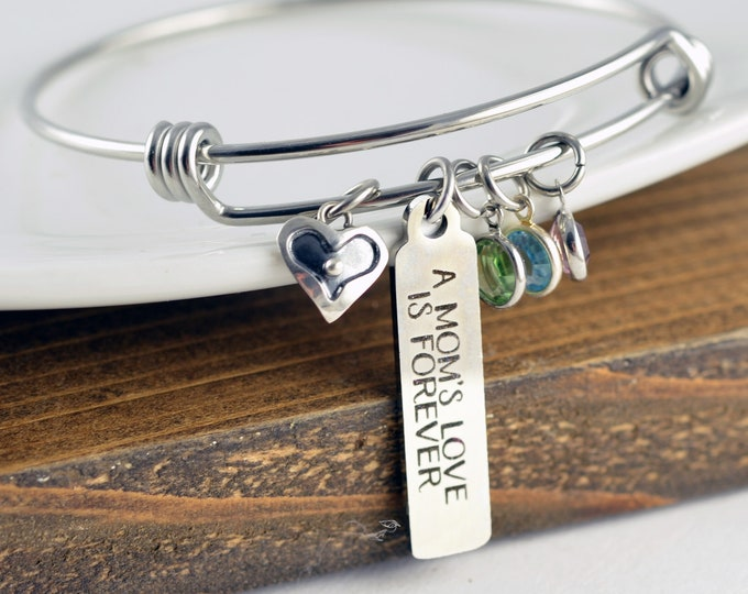 Mothers day gift, Mom Gift, Gift from Daughter, Gift for Mom, Mom Gift, Mom Jewelry, Mothers Day Gift, A Mothers Love is Forever