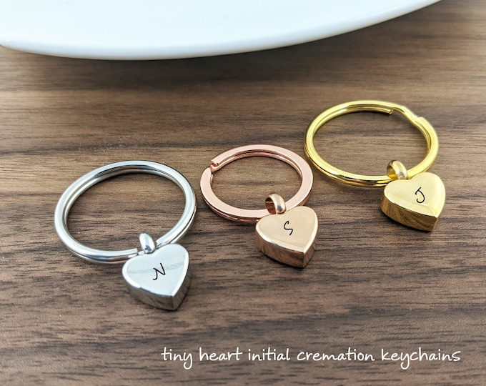Cremation Keychain, Cremation Jewelry, Urn keychain For Ashes, Cremation Urn, Cremation Keepsake, Loss of Mother. Loss of Dog