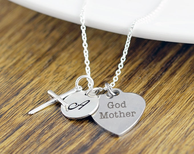 God Mother Necklace, God Mother Gift, Baptism Gift, Will You Be My Godmother, Godmother Proposal, Religious Necklace, Religious Gift