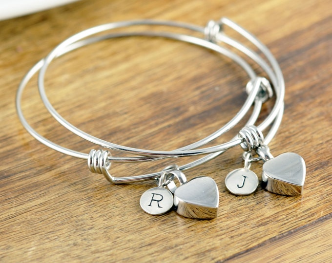 Personalized Cremation Bracelet, Cremation Jewelry, Ash Jewelry, Heart Cremation Pendant, Urn Bracelet For Ashes, Silver Heart Bracelet