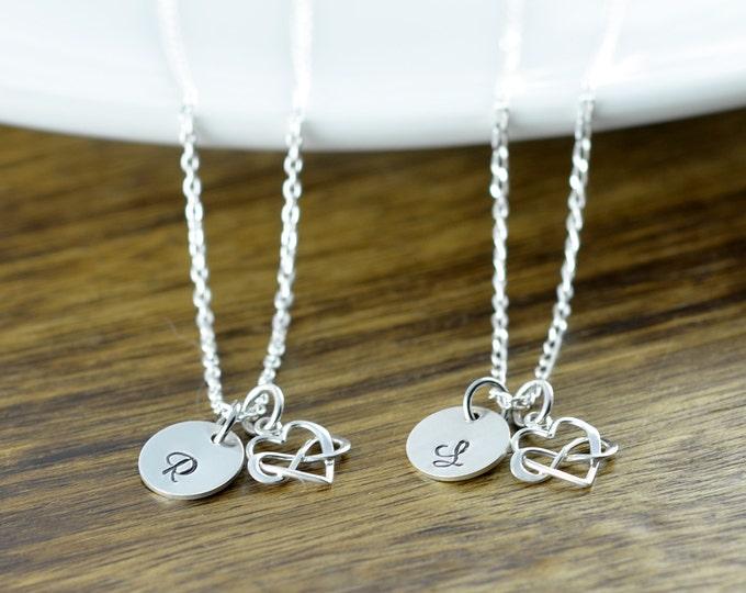 Heart Infinity Necklace, Infinity Necklace, Infinite Love Necklace, Initial Necklace, Charm Necklace, Valentine's Day Necklace