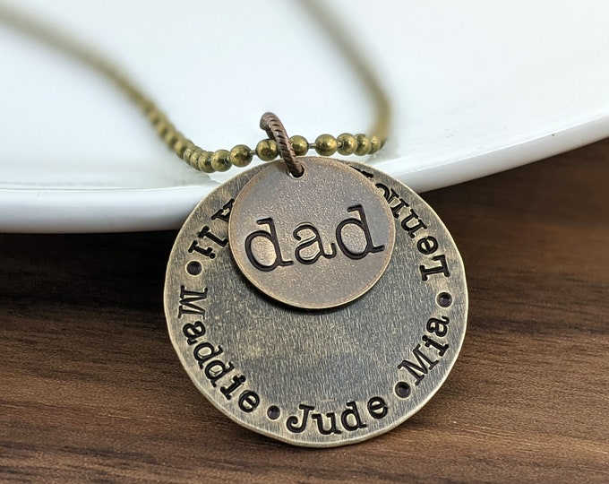 Gifts for Dad, Dad Gifts, Fathers Day Gift, Mens Necklace, Mens Jewelry, Personalized Father's Day Gift, Dad necklace, Daddy Gift
