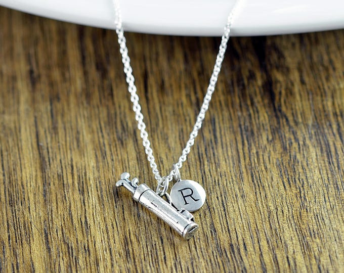 Personalized Initial Necklace - Golf Gifts - Gifts for Golfers - Golf Jewelry - Golf Gift for Women - Golfer Jewelry - Custom Necklace