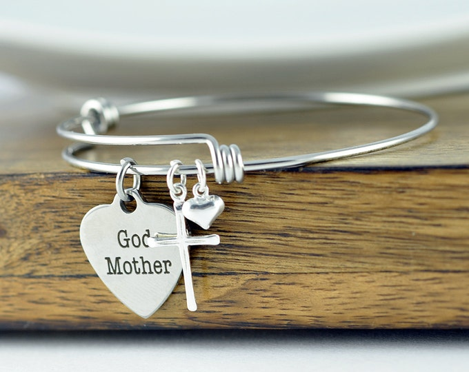 God Mother Bracelet, God Mother Gift, Baptism Gift, Will You Be My Godmother, Godmother Proposal, Religious Bracelet, Religious Gift