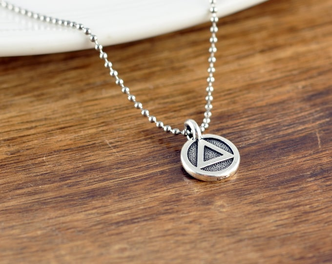 Sobriety Gift, Sobriety Jewelry, Recovery Necklace, Recovery Jewelry, One Day At A Time, AA Jewelry, Addiction Recovery, Sobriety
