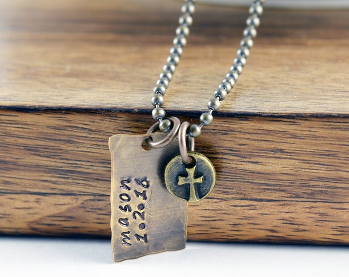 Dads Necklace, Gift for Dad, Personalized Gift for Dad, Birthday Gift for Dad, Dog Tag Necklace, Mens Personalized Necklace, Mens Jewelry