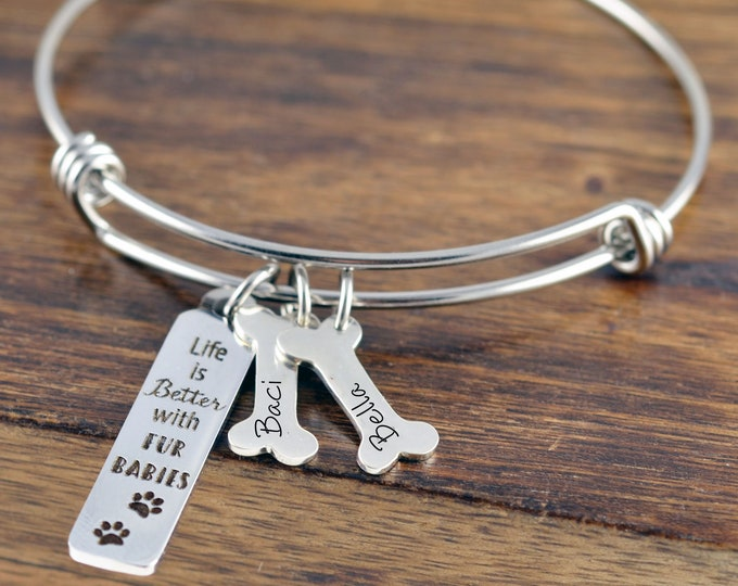 Dog Lover Gift, Dog Mom Gift, Puppy Bracelet, Dog Paw Jewelry, Paw Print Charm, Dog Jewelry, Dog Lover Gift Personalized, Dog Lover Jewelry