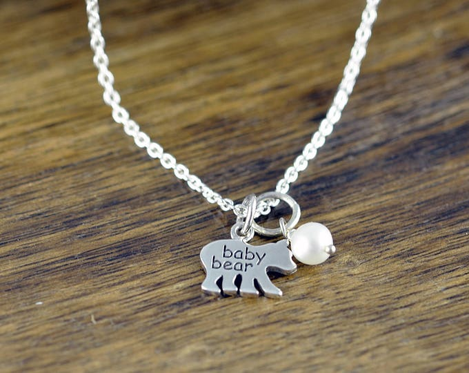 Baby Bear Necklace - Mama Bear Jewelry - Bear Cubs Necklace - Bear Cub Jewelry - Mothers Necklace - Mom Necklace - Daughter Gift