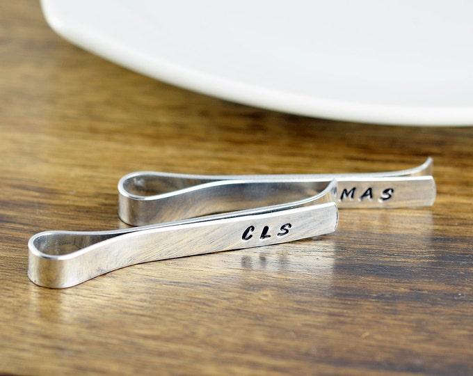 tie bar - tie bar personalized - monogram tie clip - monogram tie bar - mens gift - personalized tie clip - best man gift