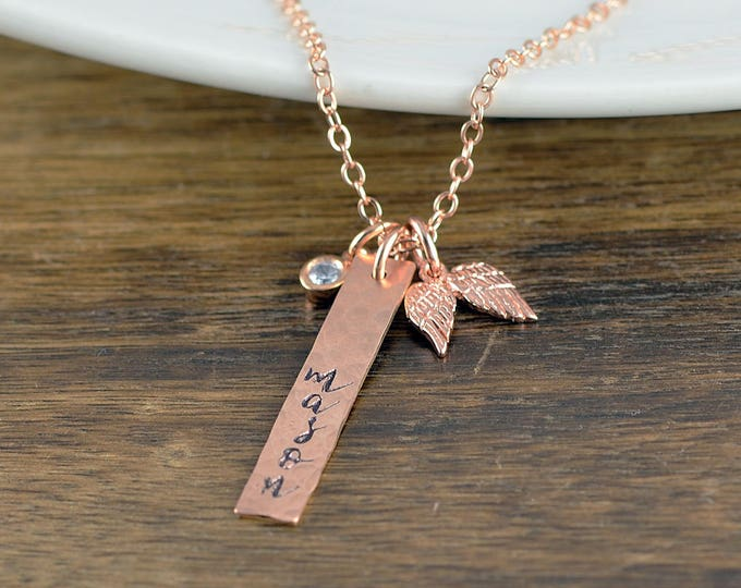 Rose Gold Necklace, Memorial Jewelry, Remembrance Gifts, Baby Loss Gift, Remembrance Jewelry,  Loss of Child Gift, Miscarriage