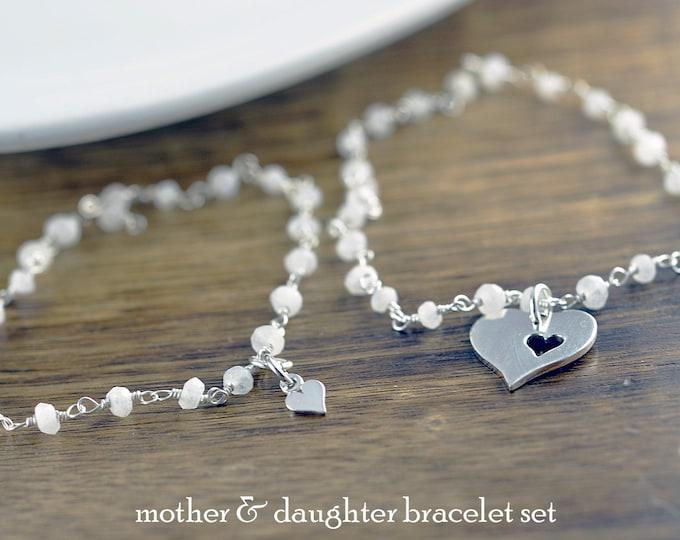 Mother Daughter Jewelry - Mother Jewelry - Mother Daughter Bracelet Set  - Mom Daughter Gift Set - Mother's Christmas Gift