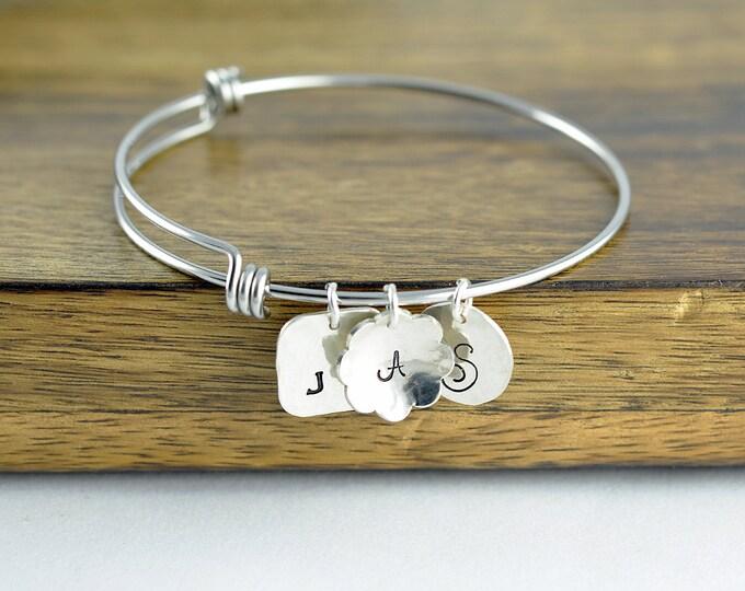 Personalized Bracelet - Mothers Bracelet - Personalized Bracelet - Mothers Jewelry - Initial Bracelet - Mothers Day Gift - Silver Bracelet