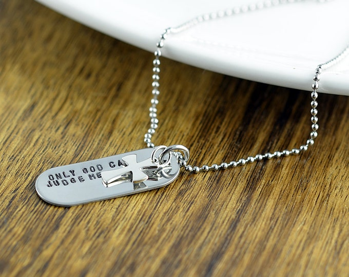 Hand Stamped Mens Necklace - Personalized Dog Tag Necklace - Hand Stamped Mens Necklace - Custom Mens Jewelry - Mens Gifts - Gifts for him