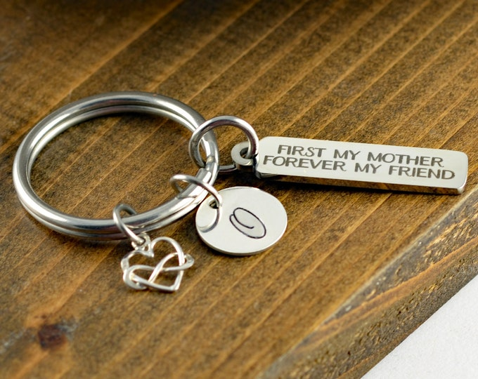First My Mother Forever My Friend Keychain, Gift for Mom , Mother Daughter , Mom Key Chain, Mothers Day Jewelry, Mothers Day Gift