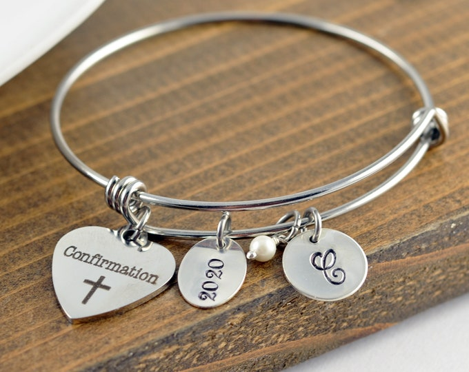 Confirmation Bracelet, Confirmation Gift, Girls Confirmation Gift, Catholic Confirmation, Personalized Confirmation Charm Bracelet