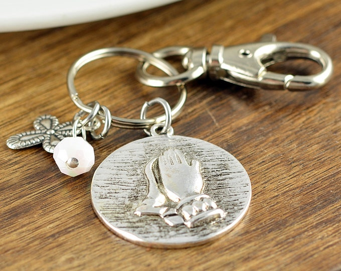 Serenity Keychain - Serenity Prayer Keyring Keychain, Personalized Keychain, Christian Gifts, Religious Gifts, Scripture Jewelry