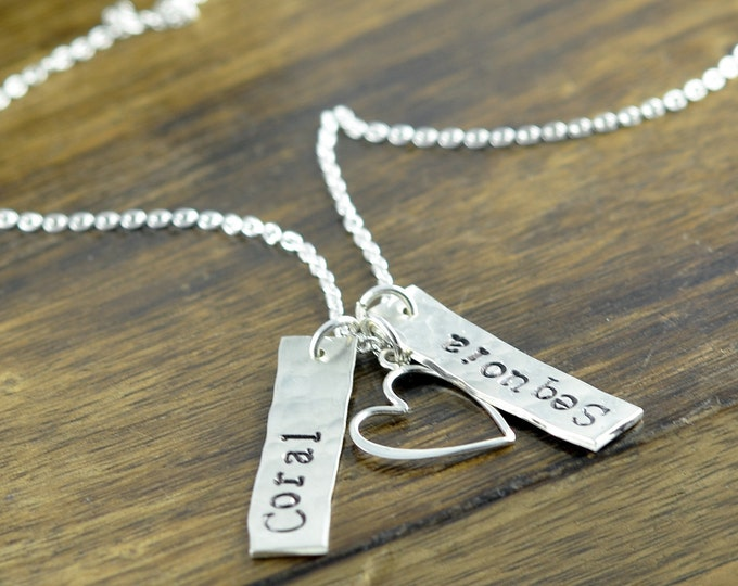 Personalized Mom, Gifts for Mom, Personalized Gifts, Mother's Necklace, Mom Jewelry, Kids Name Necklace, Custom Stamped Necklace