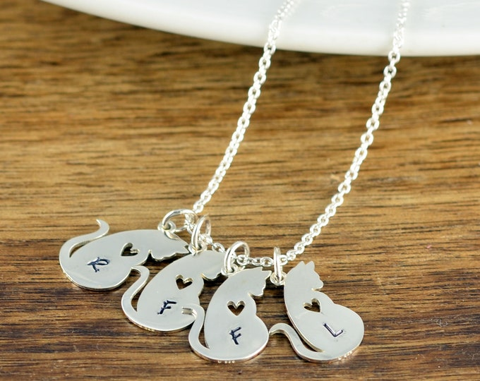 Cat Mom, Cat Lover Gift, Cat Lover Gift Jewelry, Animal Lover Gift, Necklace for Women, Cat Necklace Personalized, Cat Necklace for Women